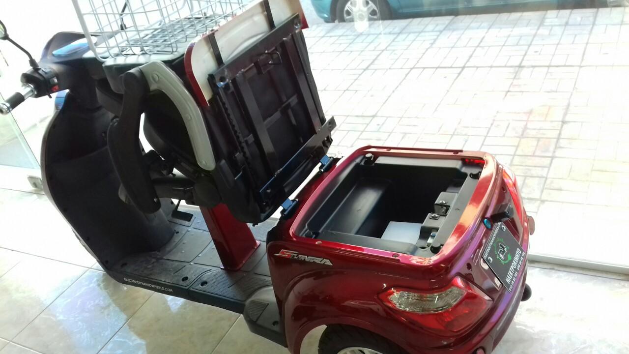 Τρίκυκλο Ηλεκτρικό Όχημα SUNRA SHINO X Κόκκινο ανοιχτή σέλα